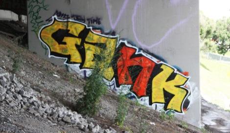 Gank piece underneath expressway