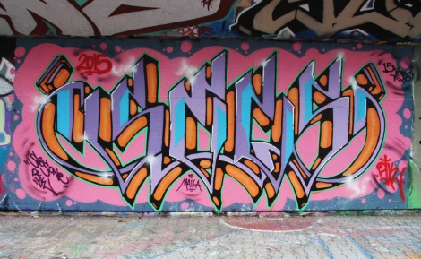 Secs at the PSC legal graffiti wall