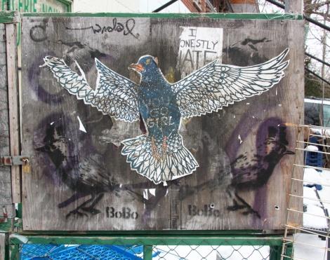 You Go Girl wheatpaste over stencil prints by Mateo aka Bobo