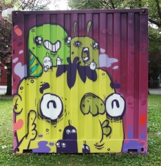 Astro on container in Plateau park