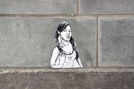 small wheatpaste by unidentified artist