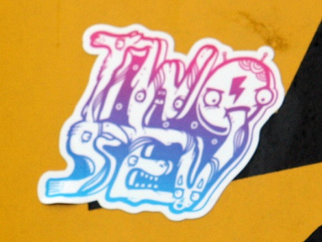 Two Sev sticker