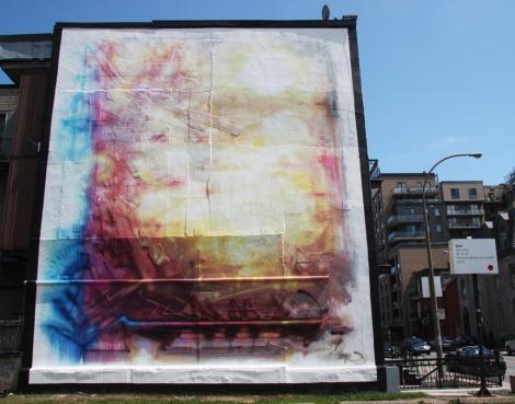 Stare mural in Centre-Sud