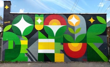 Peru mural in a Rosemont alley