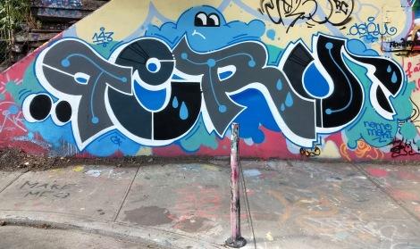 Peru at the Rouen legal graffiti tunnel