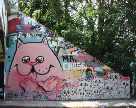Mr Chose at Rouen tunnel legal graffiti wall