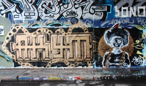 Akym at the Rouen legal graffiti tunnel