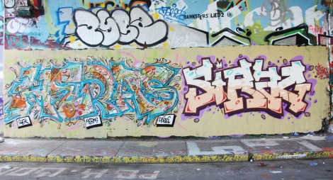 Heras and Sirag at the Rouen legal graffiti tunnel