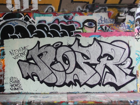 Noper at the Rouen legal graffiti tunnel