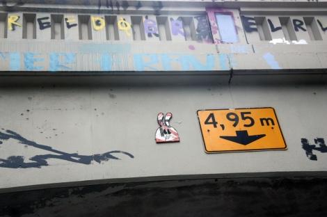 Starkey 'wabbit' wood-up at the legal graffiti tunnel on de Rouen