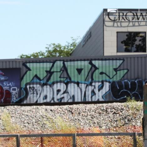 graffiti piece by Five Eight amongst others