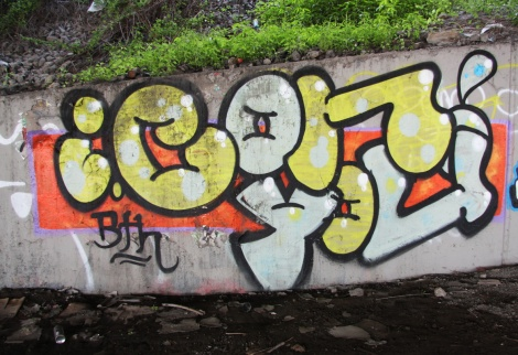 Someone representing the BTH crew under an expressway