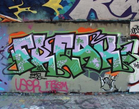 Freak at the PSC legal graffiti wall
