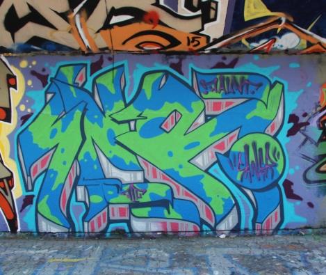 Saner at the PSC legal graffiti wall