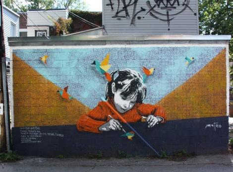 2016 mural by Mateo in Rosemont-Petite-Patrie