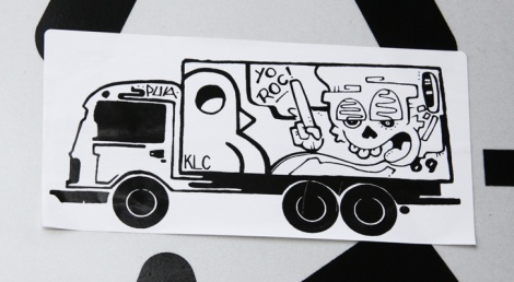 Collaboration sticker between ROC514, Pua69 and 6ara9e