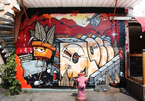 John Kaye mural in Petite-Patrie