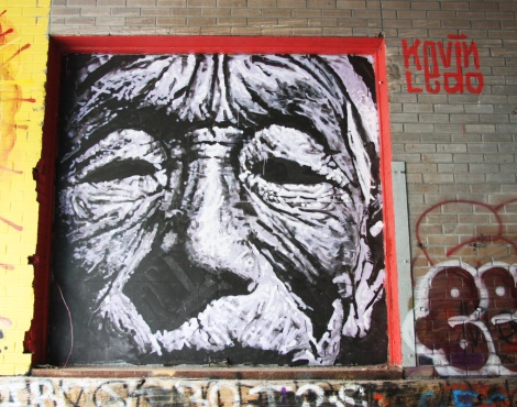Kevin Ledo mural piece in the Plateau