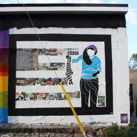 Lianne Charlie mural for Decolonizing Street Art 2015