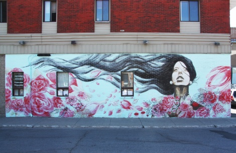 Melsa Montagne mural in St-Henri