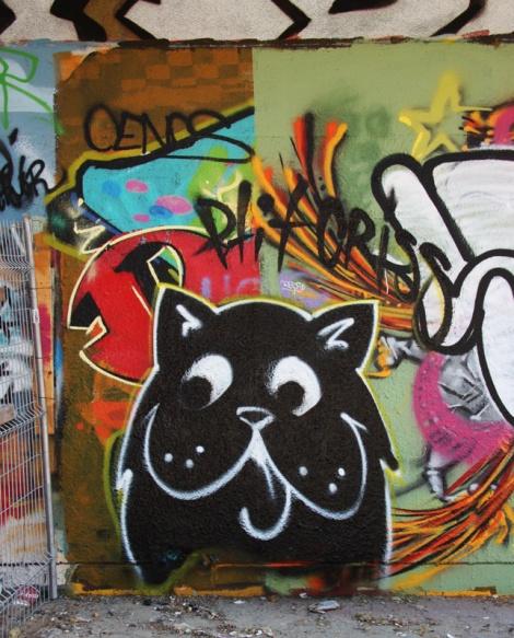 Mr Chose at the PSC legal graffiti wall