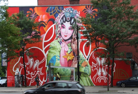 Gene Pendon and Bryan Beyung mural for Mu in Chinatown