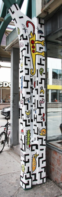 D.Deblois on Plaza St-Hubert post
