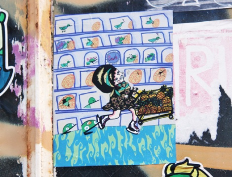 sticker by an unidentified artist, perhaps Solal Comics