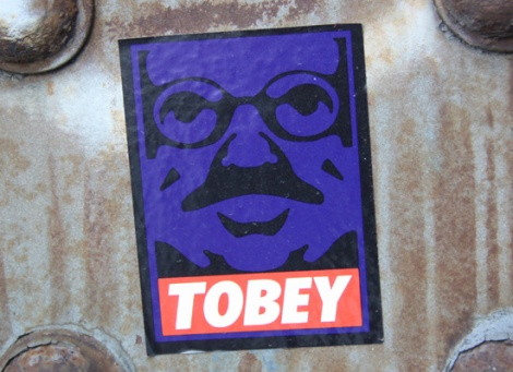Tobey sticker
