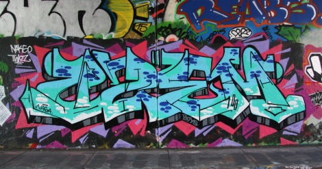 Uzem(?) at Rouen legal graffiti tunnel