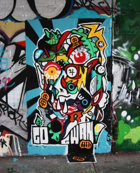 Gwan at the Rouen tunnel legal graffiti walls