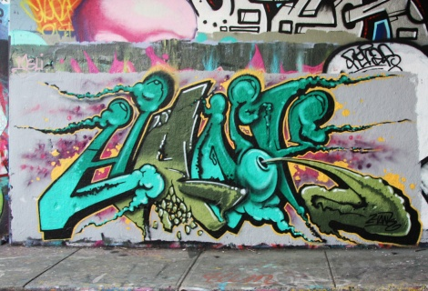 Hank at Rouen legal graffiti tunnel