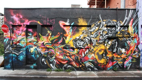 Tchug and Dfeck's contribution to the 2015 edition of the Under Pressure Festival
