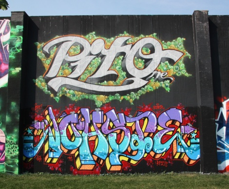 Pito (top) and Johste (bottom) at the 2015 Lachine graffiti jam