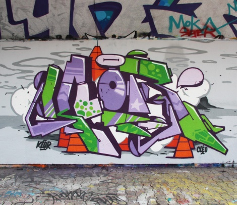 123Klan's Klor at the PSC legal wall