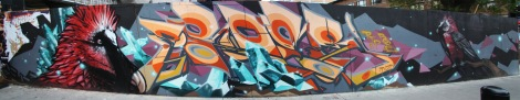 Arose mural in Plateau end