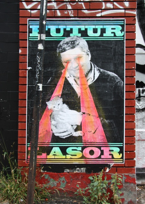 wheatpaste by Futur Lasor Now