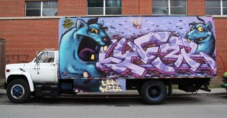 Lyfer on truck