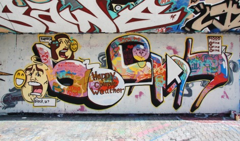 Bosny at the PSC legal graffiti wall