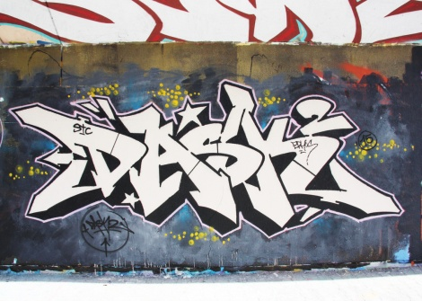 Dask at the PSC legal graffiti wall