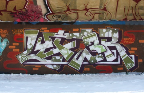 Lyfer at the PSC legal graffiti wall