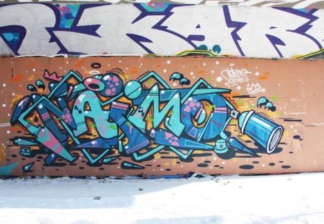 Naimo at the PSC legal graffiti wall