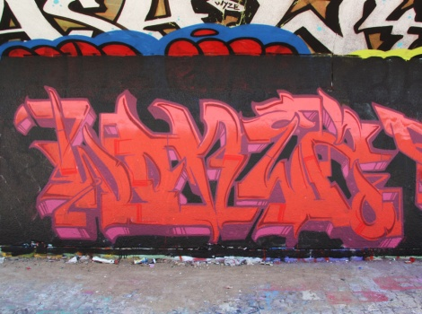 Wonez at the PSC legal graffiti wall