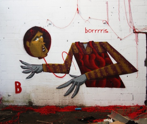 Borrrris piece found in the abandoned Transco