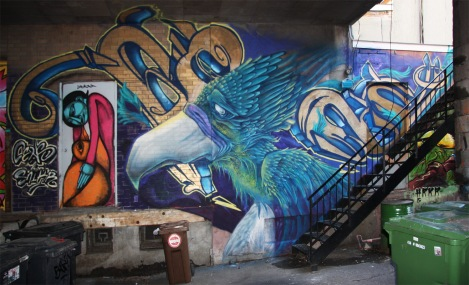 Bird and writing by Cens and Snikr, door by Labrona