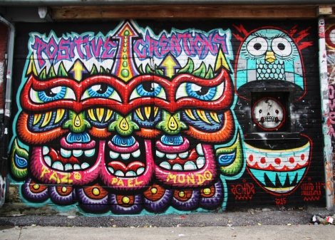Chris Dyer (left) and Peru Dyer (right) in Plateau End alley