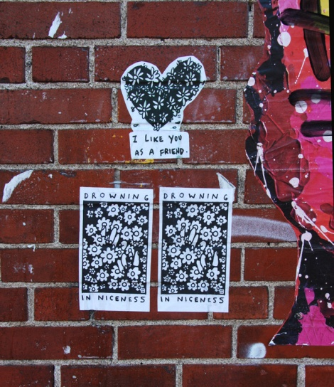 Amanda Di Genova paste-ups in Mile End