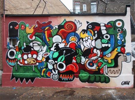 Gwan mural in Petite Patrie