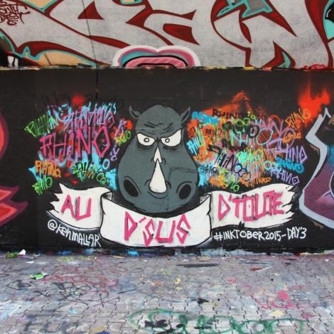 Ken Mallar at the PSC legal graffiti wall