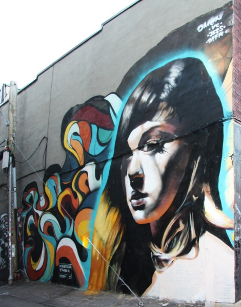Omen and Jess in Plateau alley